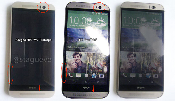 HTC One M9 vs HTC One M8 - UPDATED : Leaked Images reveal the HTC One M9 for the First Time