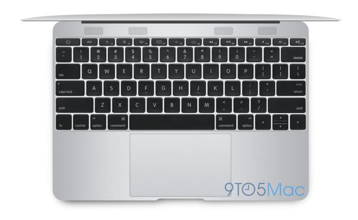 "keyboardsilver copy - New Rendered Images show the latest Apple 12"" Macbook Air which will have a redesigned body and a higher resolution display"