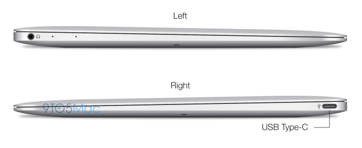 "profilel r copy - New Rendered Images show the latest Apple 12"" Macbook Air which will have a redesigned body and a higher resolution display"