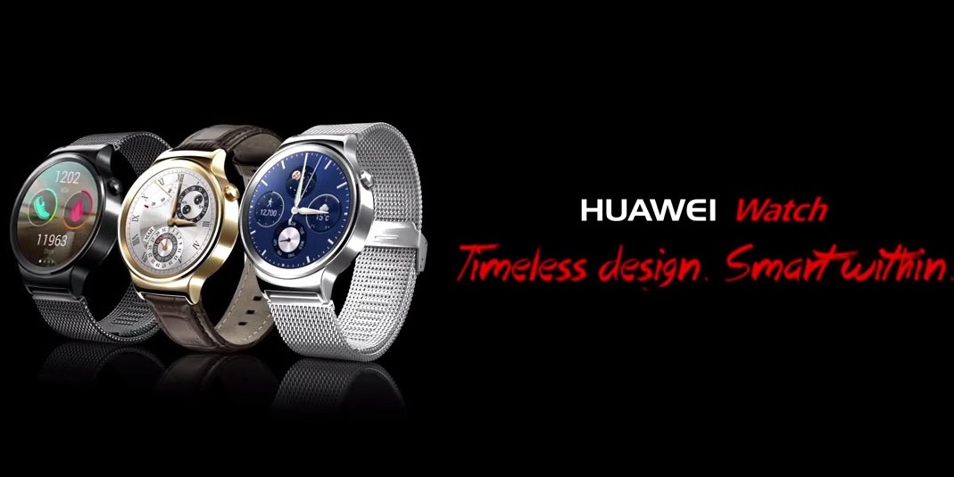"huawei watch1 - Huawei unveils the ""Huawei Watch"" Powered by Android Wear with a Stunning Design"