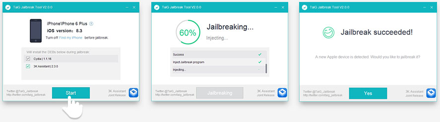 iOS 8.3 Jailbreak TaiG - HOW TO : Jailbreak your iPhone/iPad/iPod running iOS 8.4