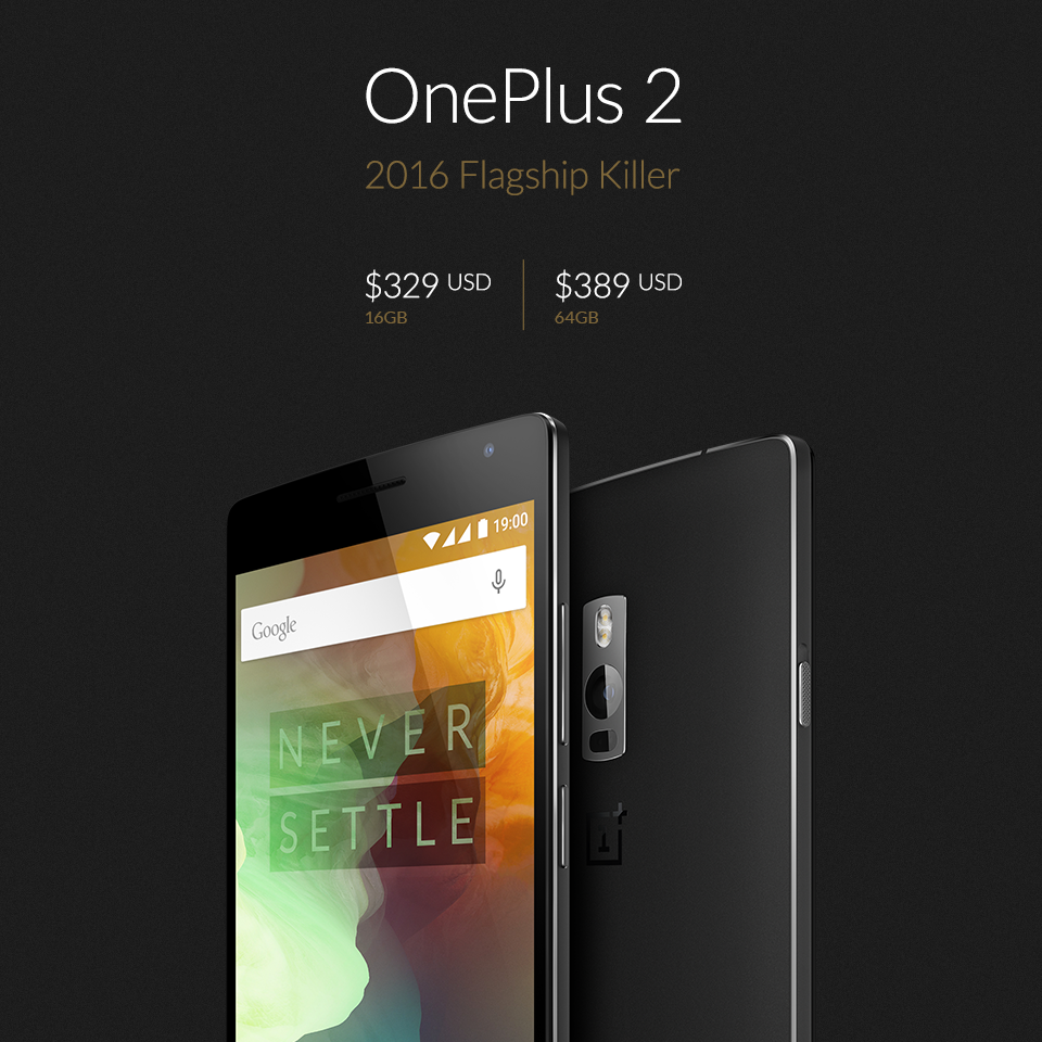 "USD FB - OnePlus Two officially unveiled as the ""2016 Flagship Killer"""