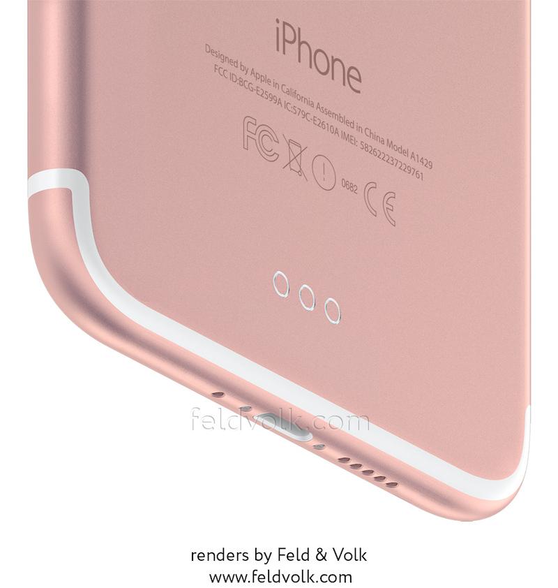iPhone 7 Plus rumor based renders 1 - Alleged iPhone 7 Renders revel dual camera setup