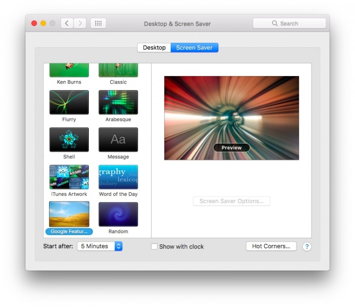 macos - Google introduces photos screensaver for Mac