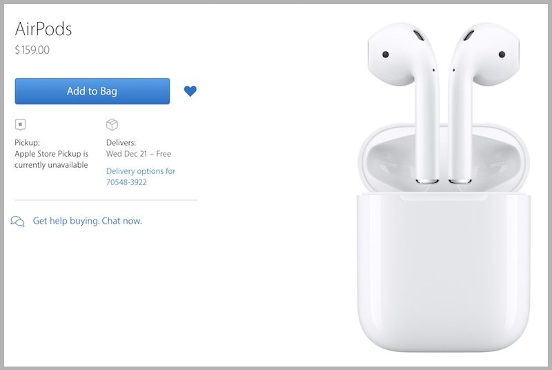 airpods are out 800x536 - Apple AirPods shipping from December 21; Now available to order for $159