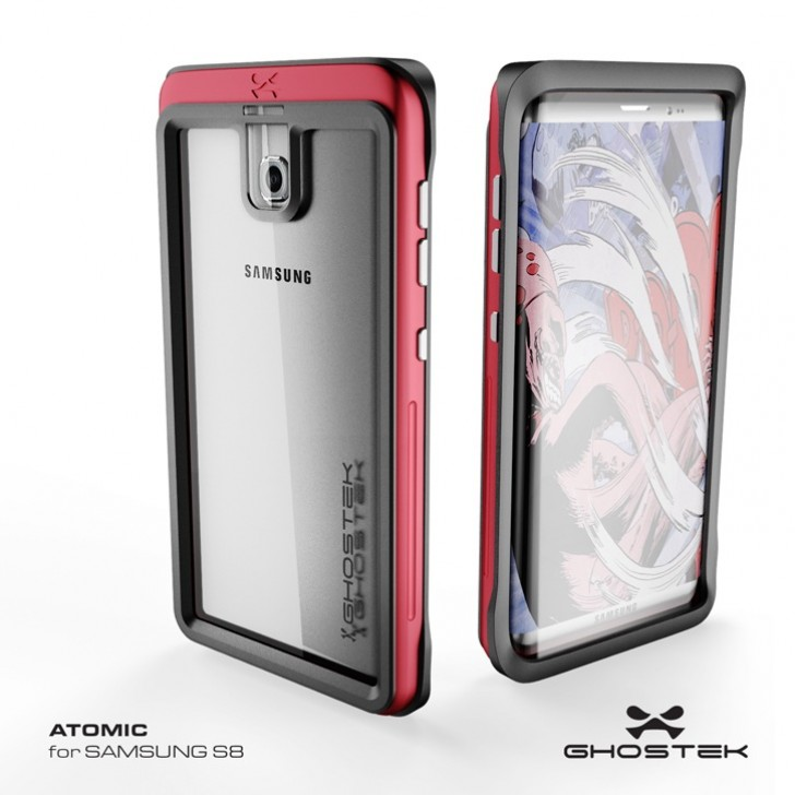 1 - Samsung Galaxy S8 leaks in Ghostek case renders