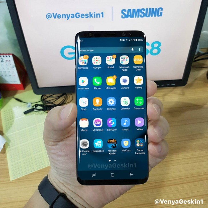 5 - Samsung Galaxy S8 & S8+ Live Images Leaked showing off a working device