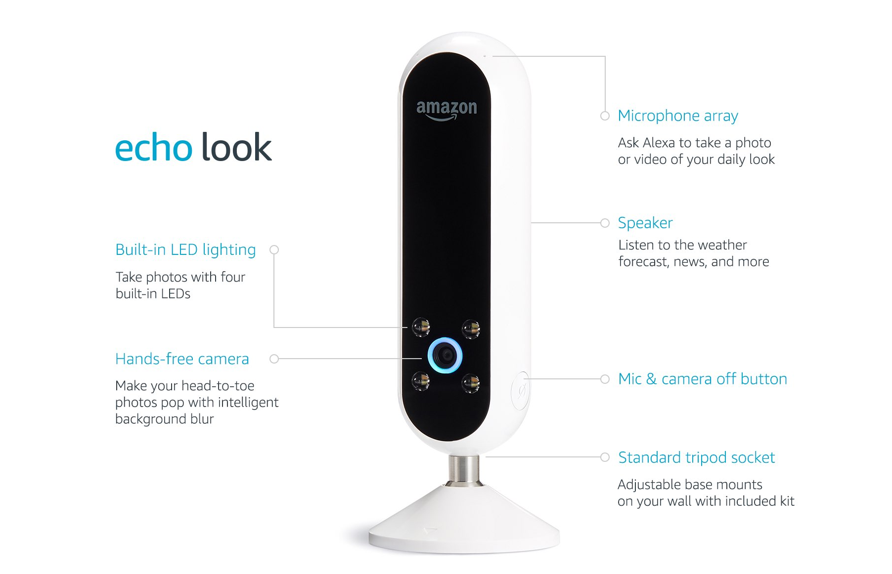 Amazon Echo Look - Amazon unveils Echo Look that can see what you're wearing and judge your outfit!