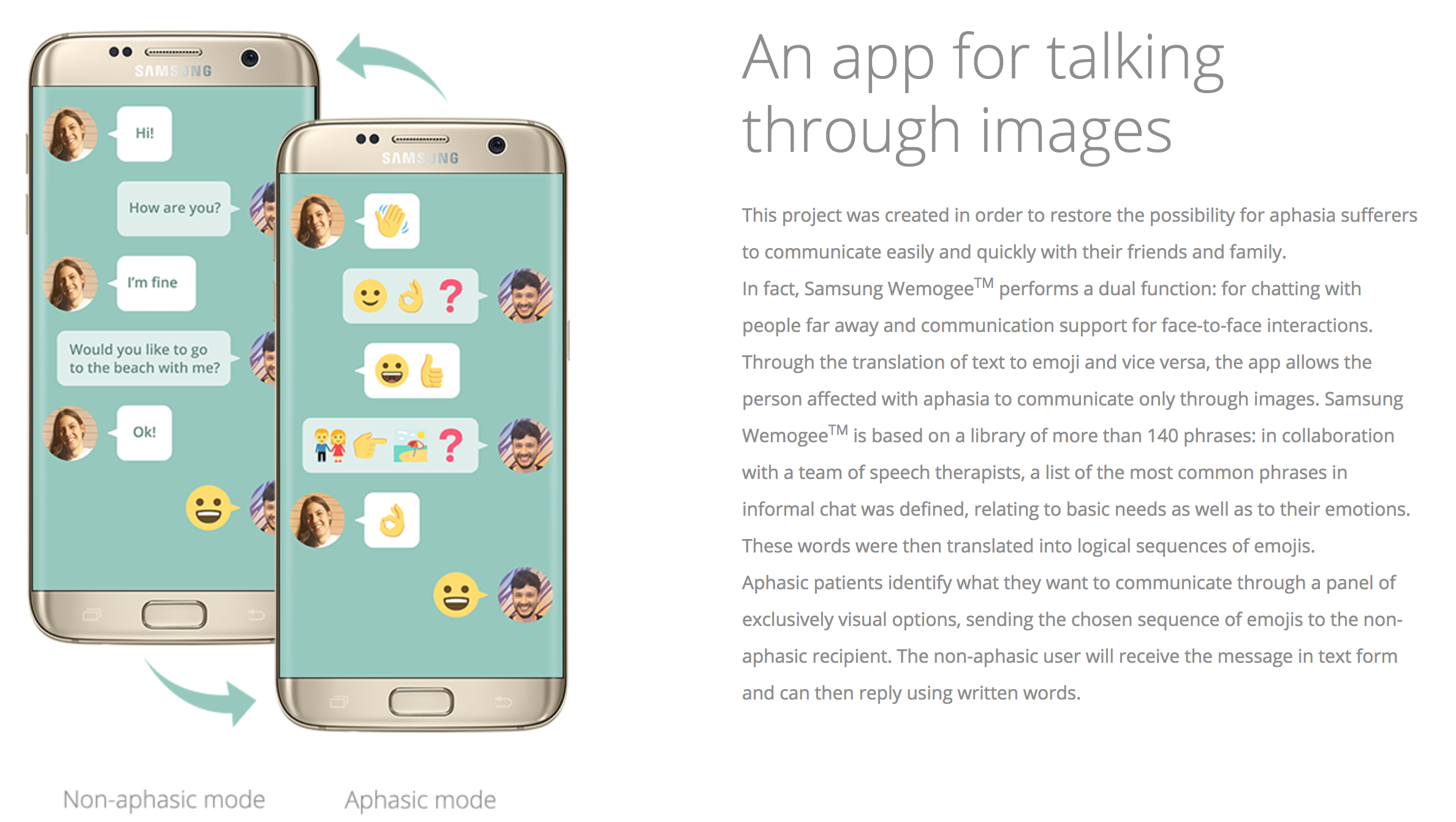 "Screen Shot 2017 04 26 at 4.42.35 PM - Samsung unveils ""WeMogee"" - An emoji based chat app for people with language disorders"