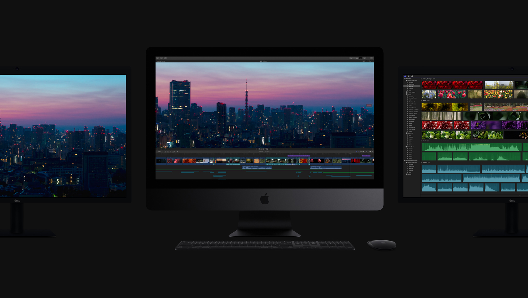 new 2017 imac three monitors dark grey - Apple debuts new iMac Pro while refreshing the MacBooks and iMacs to 7th Generation Kaby Lake processors