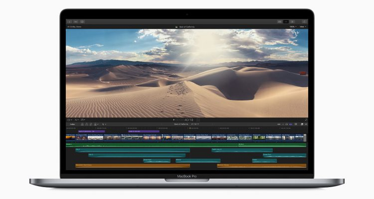 apple macbookpro 8 core video editing 05212019 750x400 - Apple Debuts New 8-Core MacBook Pro With Updated Keyboard