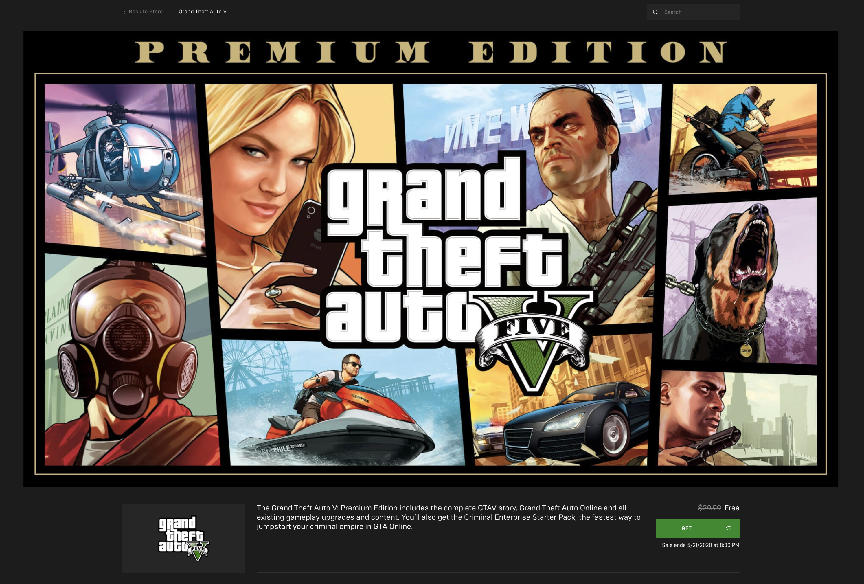 Screen Shot 2020 05 15 at 9.22.52 AM - Get GTA V Premium Edition for FREE right now!