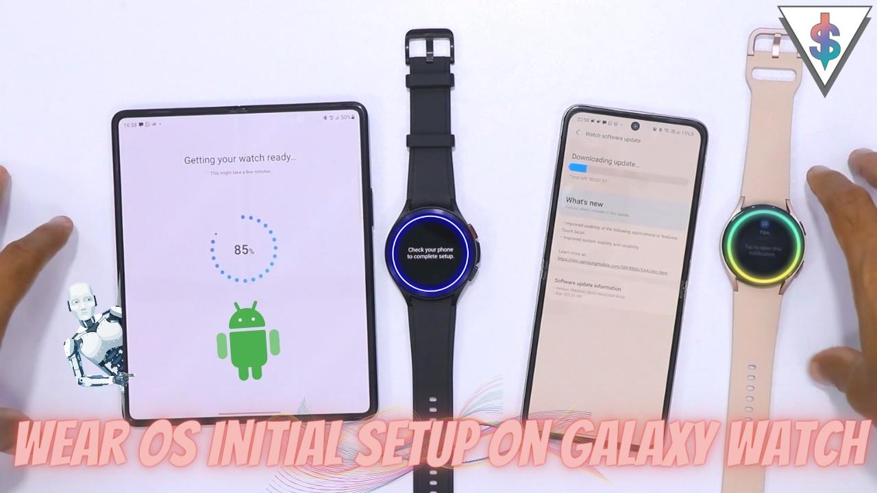 Galaxy Watch 4 Setup - Galaxy Watch 4 and Watch 4 Classic Initial Setup Walkthrough with Galaxy Z Fold 3 and Z Flip 3